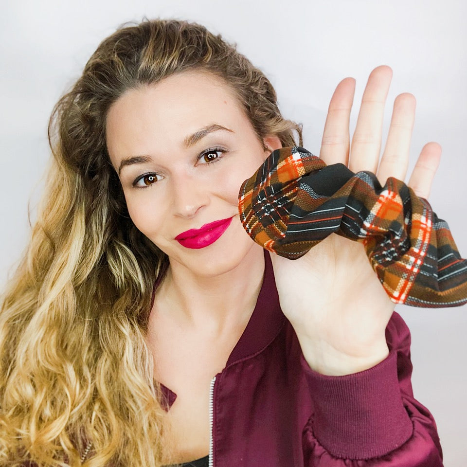 Nirvana Plaid Scrunchie  - Pieces To Peaces