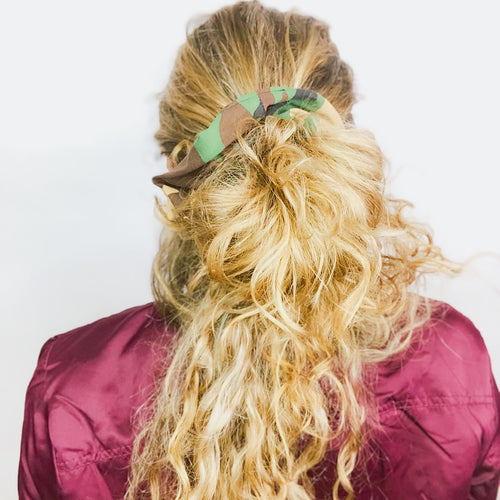 Camo Scrunchie  - Pieces To Peaces