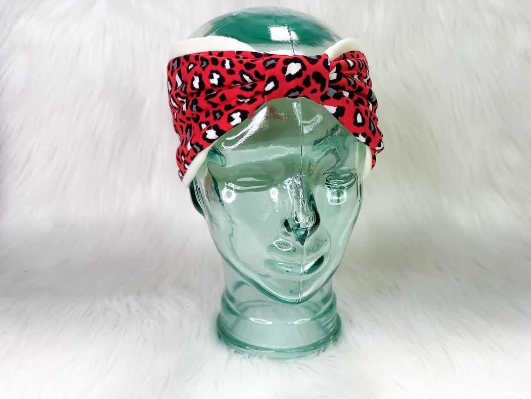 Red Leopard Ear Warmer