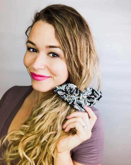 Boho Floral Scrunchie  - Pieces To Peaces