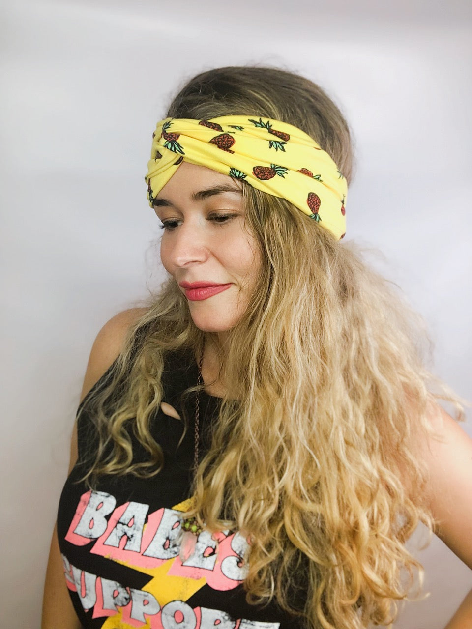 Sunny Pineapples Turban Headband Turban Headband - Pieces To Peaces