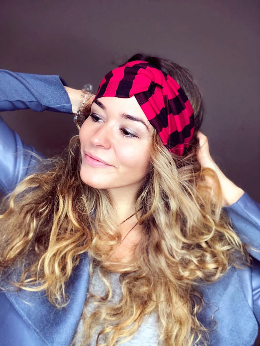 Lumber Buffalo Plaid Turban Headband Turban Headband - Pieces To Peaces