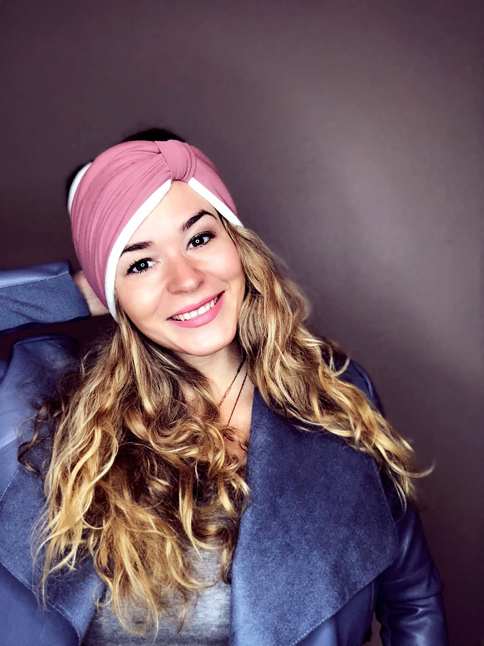 Mauve Ear Warmer Peace Bands - Pieces To Peaces