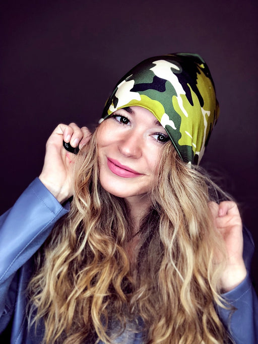 Forest Camo Slouch Beanie Slouch Beanies - Pieces To Peaces