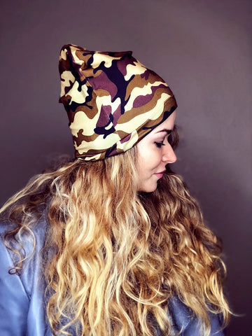 Savannah Plaid Slouch Beanie