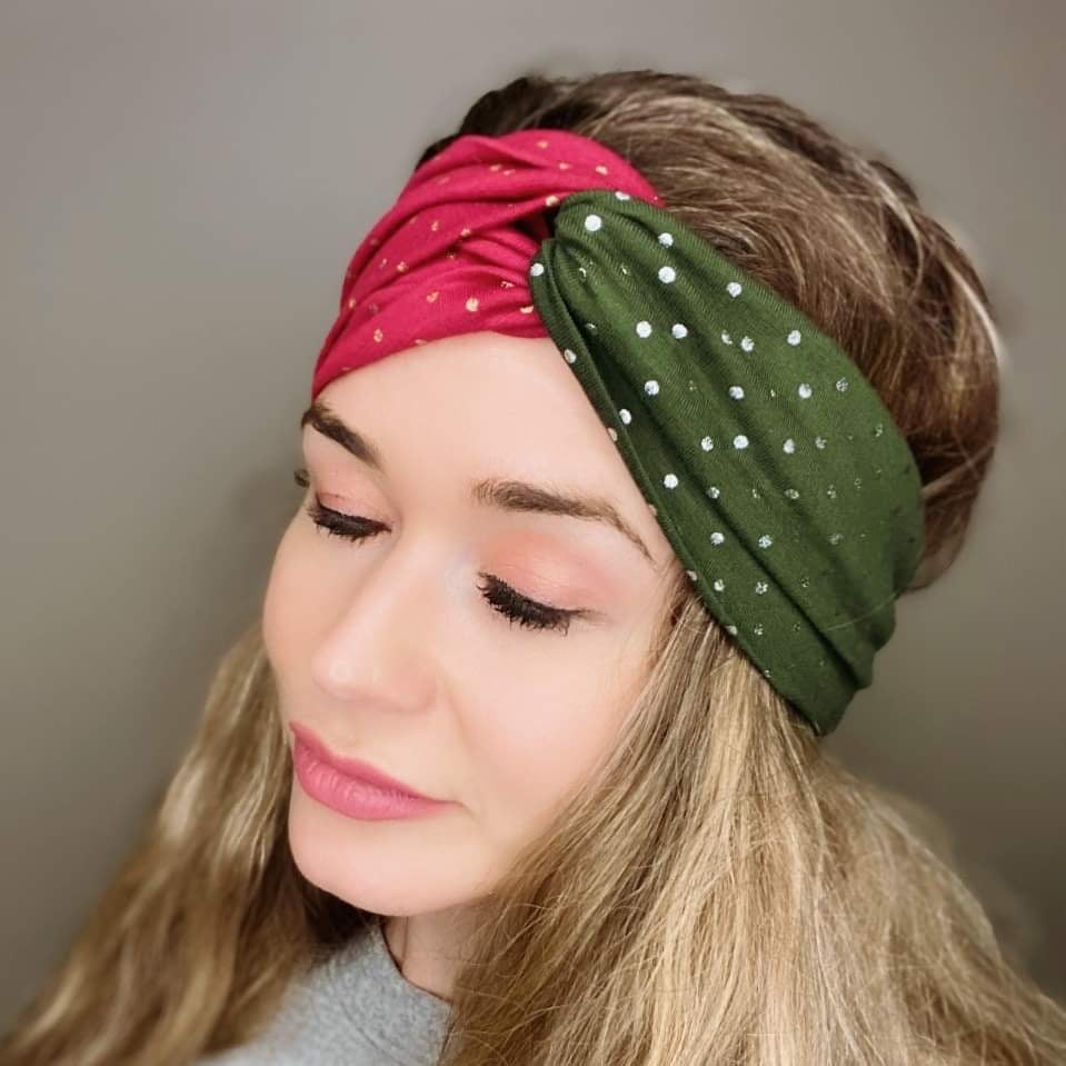 Holiday Shimmer Turban Headband