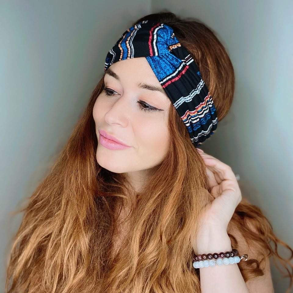 Memphis Stripe Turban Headband