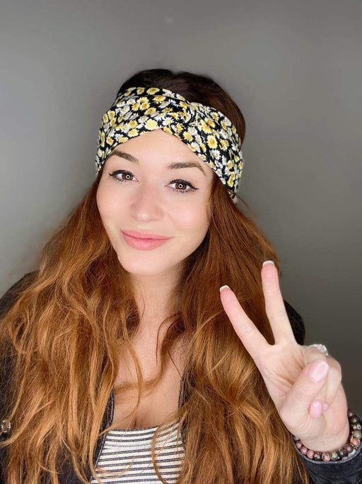 Ashley Floral Turban Headband