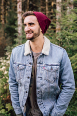 Wine Slouch Beanie Slouch Beanies - Pieces To Peaces