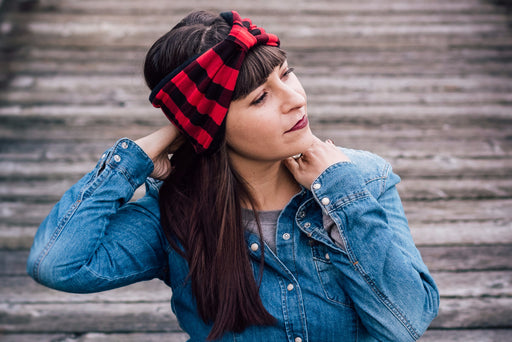 Lumber Plaid Ear Warmer Peace Bands - Pieces To Peaces