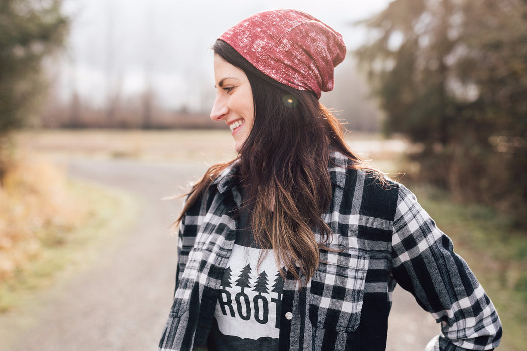 Brushed Burgundy Slouch Beanie Slouch Beanies - Pieces To Peaces
