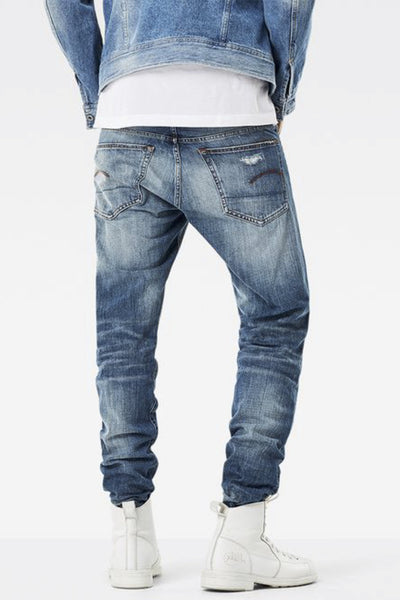 G-STAR - 3301 TAPERED MEDIUM AGED JEANS 32615