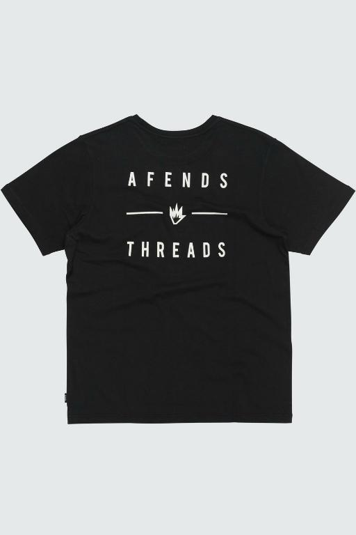 AFENDS - COMPANY STANDARD FIT TEE BLACK 34103