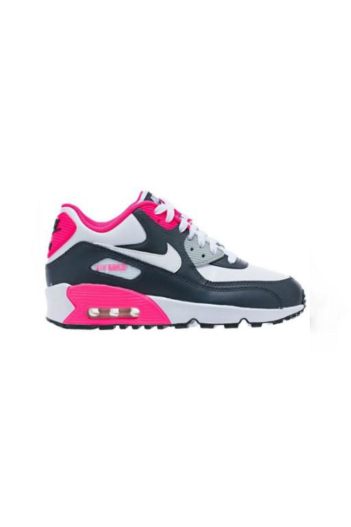 NIKE - AIR MAX 90 LEATHER (PS) ANTHRACITE/WHITE-HYPER PINK 30021