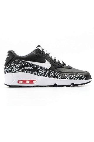 NIKE - AIR MAX 90 PRINT LTR (GS) BLACK/WHITE-LAVA GLOW 29128
