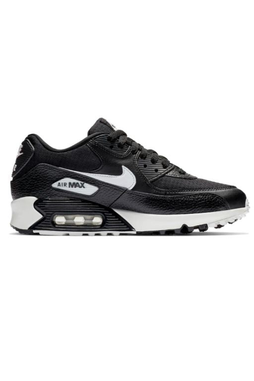 NIKE - AIR MAX 90 LEATHER (GS) BLACK/WHITE 29125