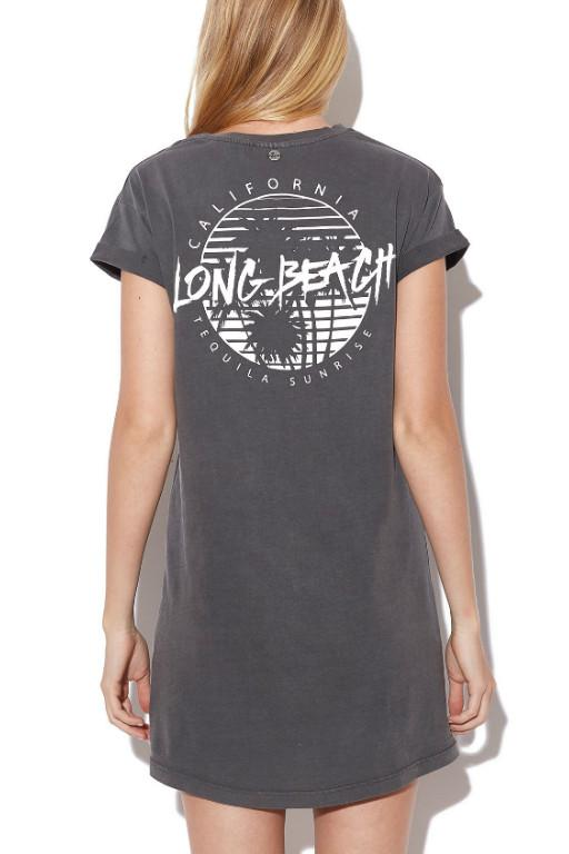 ALL ABOUT EVE - LONG BEACH TEE DRESS BLACK 29581