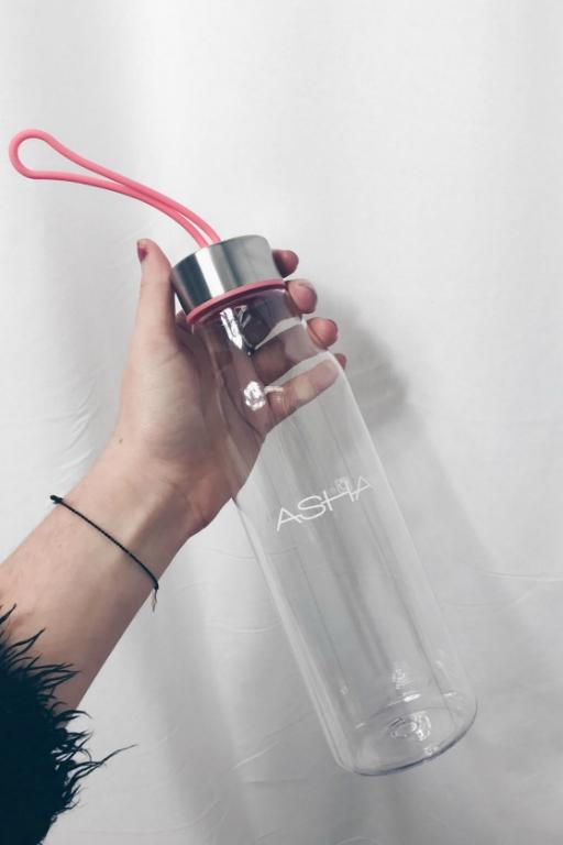 ASHA THE LABEL WATER BOTTLE PINK 33609