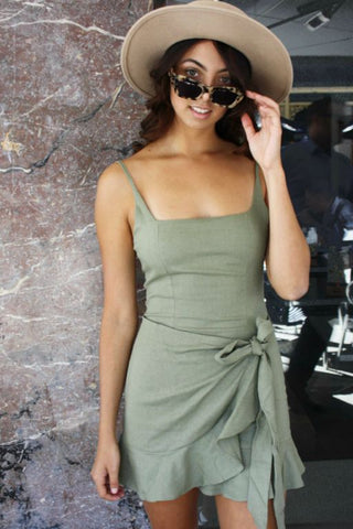 LUVALOT - ATLANTIS 2 DRESS KHAKI 34900
