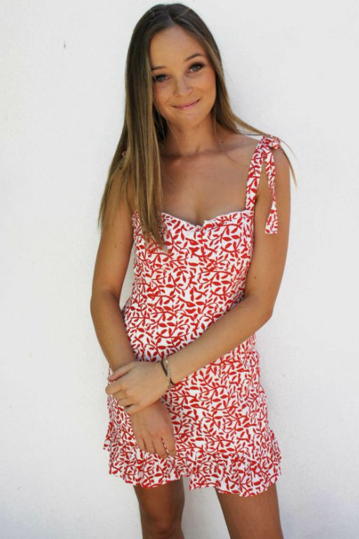LUVALOT - BAHAMAS DRESS RED 34902