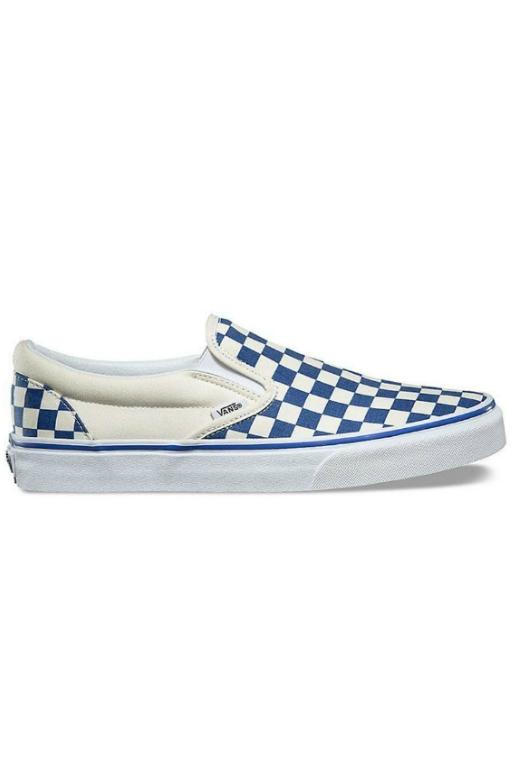 VANS - CLASSIC SLIP ON (PRIMARY CHECK) TRUE BLUE/WHITE 31942