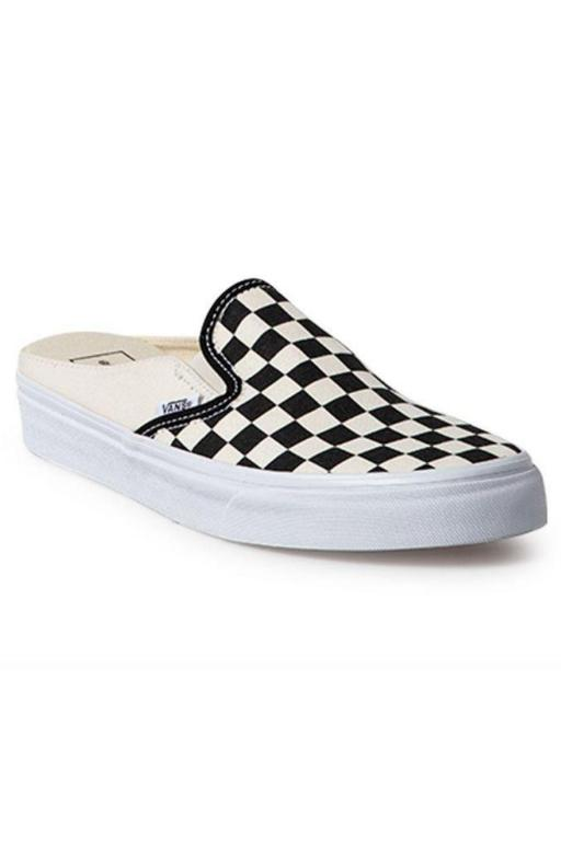 VANS - CLASSIC SLIP ON (CHECKERBOARD) MULE BLACK/WHITE 33718