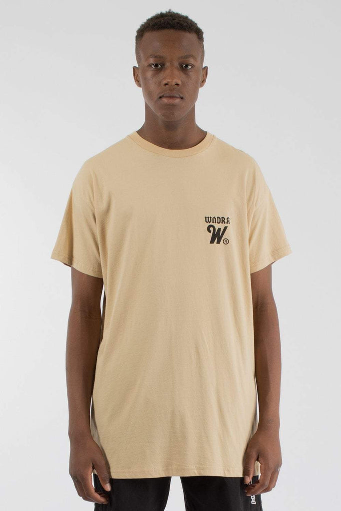 WNDRR - CUT ACROSS CUSTOM FIT TEE TAN 34282
