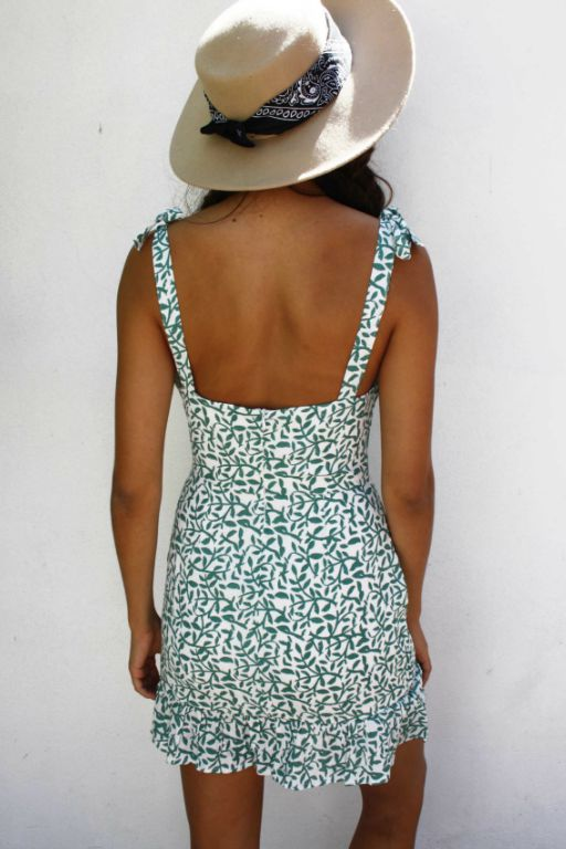 LUVALOT - BAHAMAS DRESS GREEN 34902