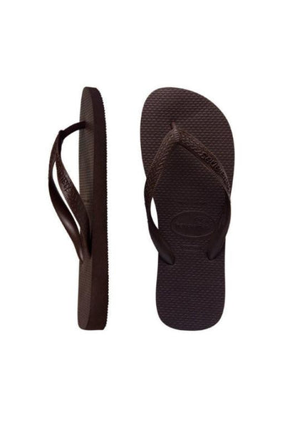 HAVAIANAS - TOP BROWN THONGS 26326