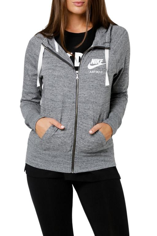 NIKE - WMNS NIKE SPORTSWEAR HOOD CARBON HEATHER/SAIL 31569