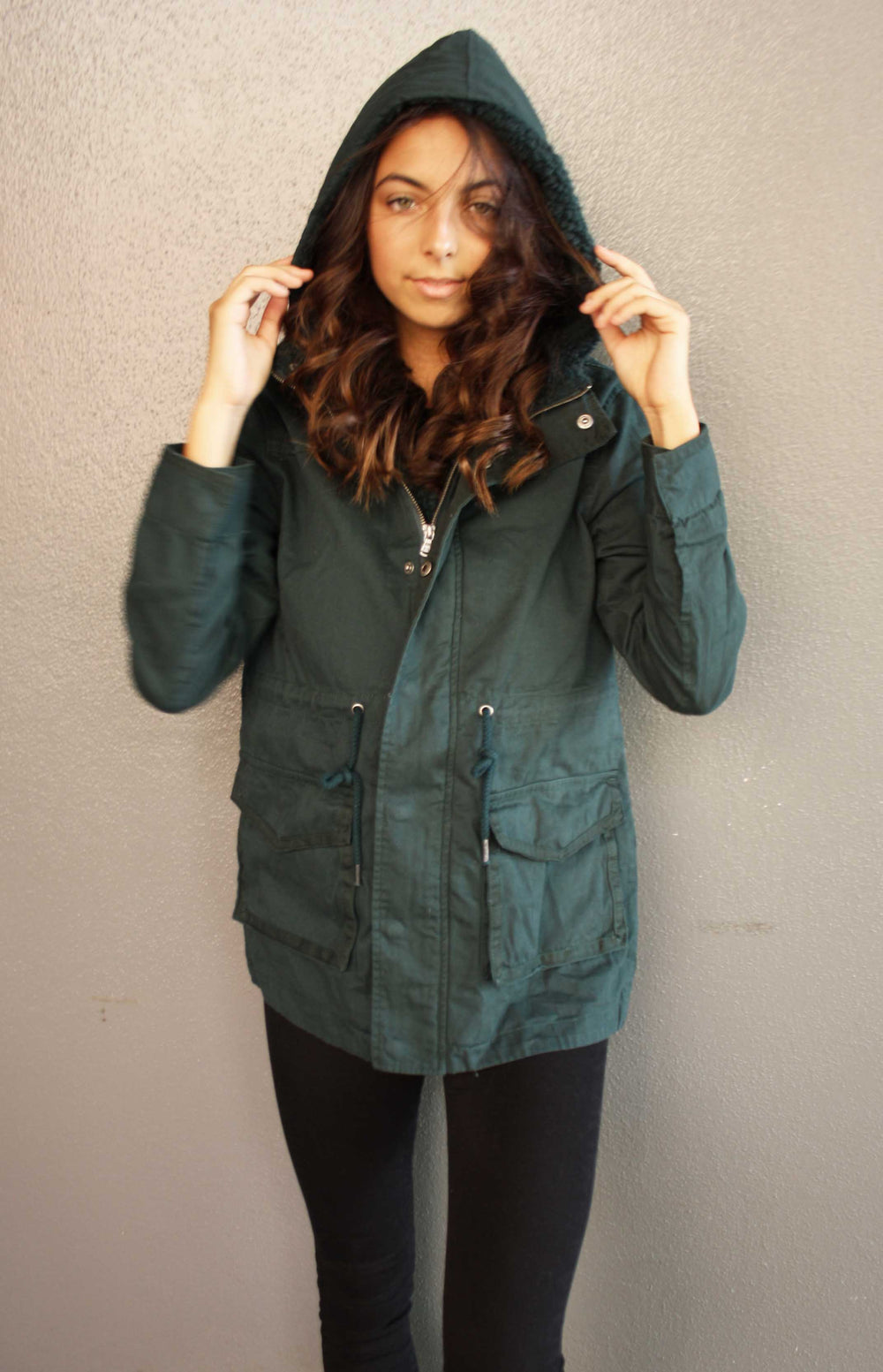 ALL ABOUT EVE - FUNDAMENTAL UTILITY JACKET GREEN 34916