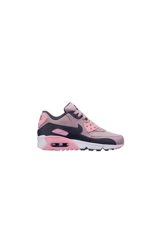 huge selection of 01e1d ba6c1 NIKE - AIR MAX 90 LEATHER (PRE SCHOOL) ROSE PINK (RSWHT) ...