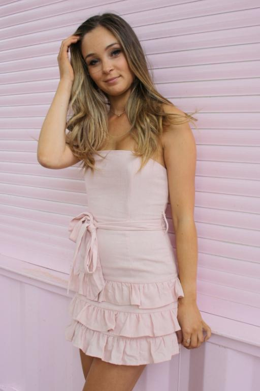LUVALOT - NAXOS DRESS LIGHT PINK 34793