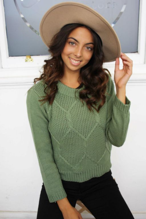 ALL ABOUT EVE - MISSING LINK KNIT KHAKI 34918