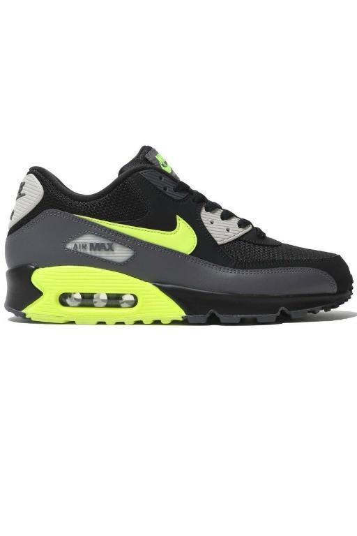 NIKE - AIR MAX 90 ESSENTIAL DARK GREY/VOLT/BLACK (DKGRY) 33534