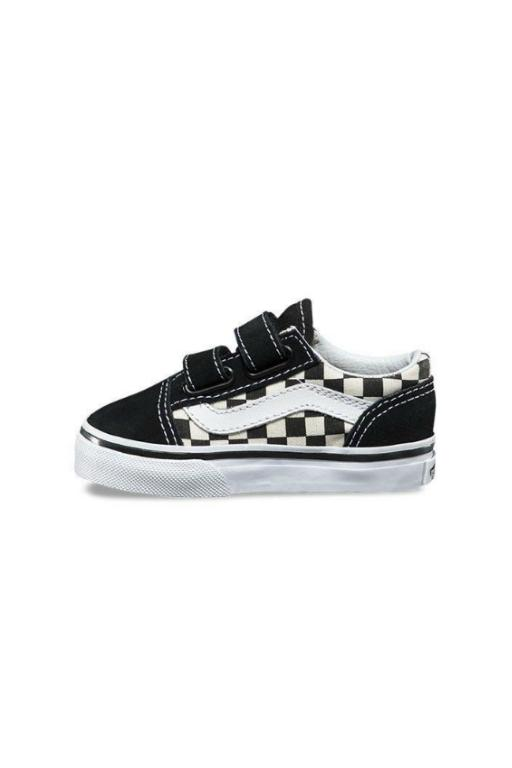 VANS - OLD SKOOL TODDLER (PRIMARY CHECK) BLACK/WHITE 31955