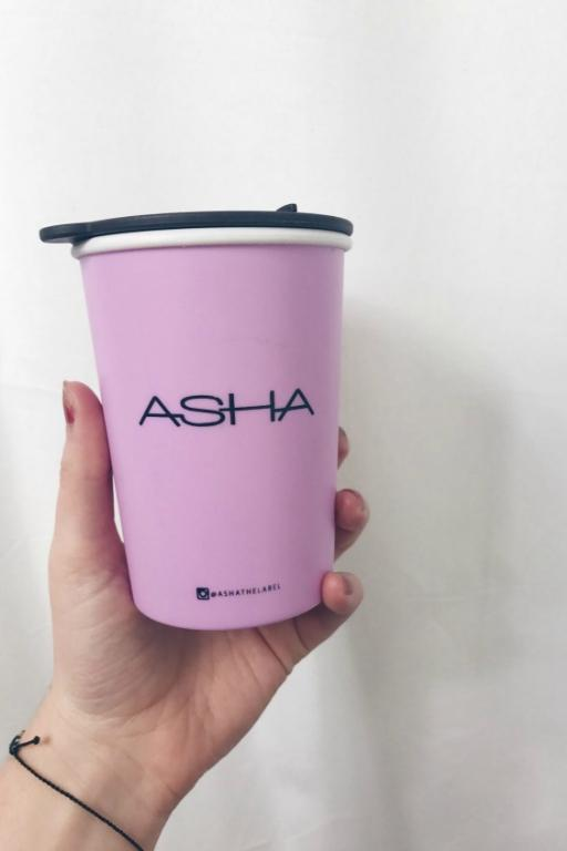 ASHA THE LABEL THERMAL MUG PINK 33806