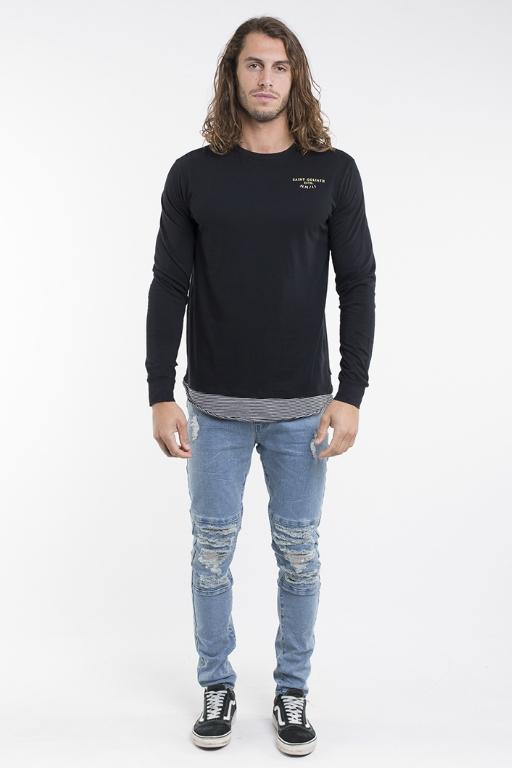 ST GOLIATH - HUNTLEY L/S TEE BLACK 32605