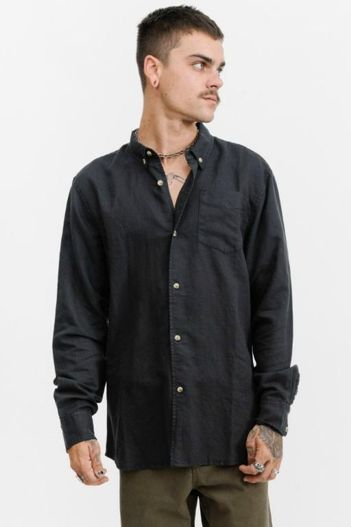 THRILLS - CENTURY LONG SLEEVE SHIRT BLACK 33251
