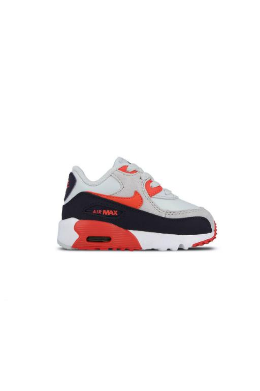 NIKE - AIR MAX 90 LEATHER TODDLER PLATINUM/EMBER GLOW - PURPLE DYNASTY 30022