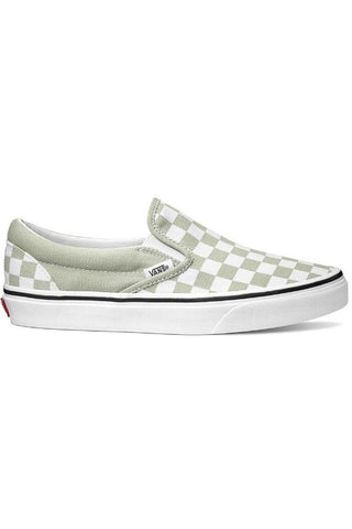 VANS - CLASSIC CHECKERBOARD SLIP ON DESERT SAGE 33725