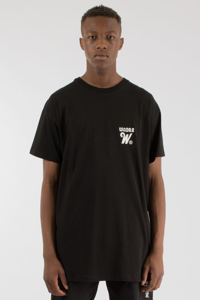WNDRR - CUT ACROSS CUSTOM FIT TEE BLACK 34282