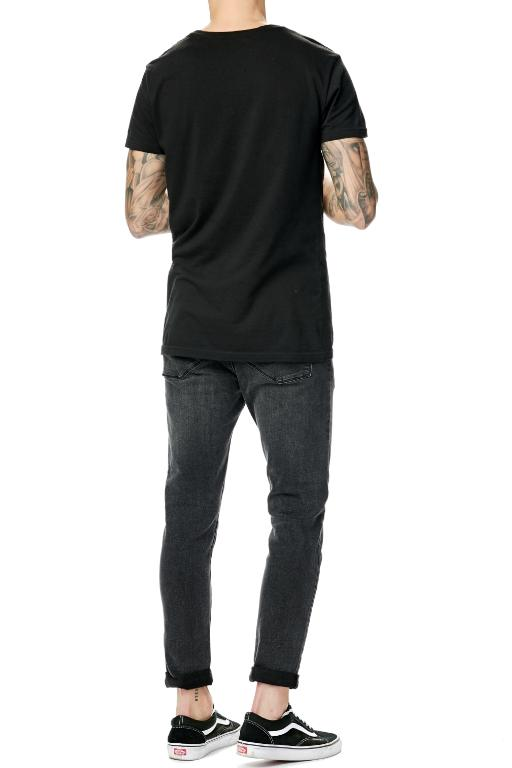 ABRAND - A DROPPED SKINNY TURN UP REBEL BLACK 34199