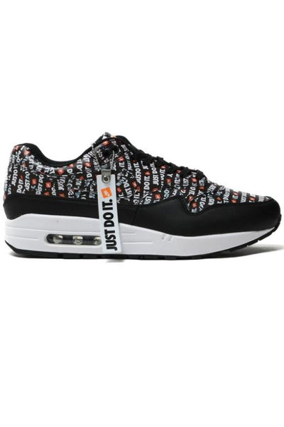 NIKE - AIR MAX 1 PREMIUM (JUST DO IT) BLACK/WHITE-TOTAL ORANGE 33677