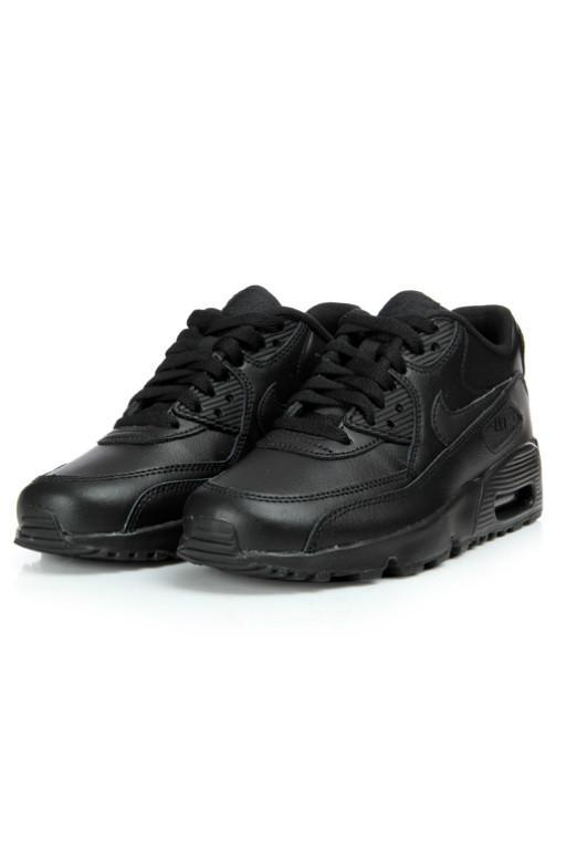 NIKE - AIR MAX 90 LEATHER (GS) BLACK/BLACK 29125