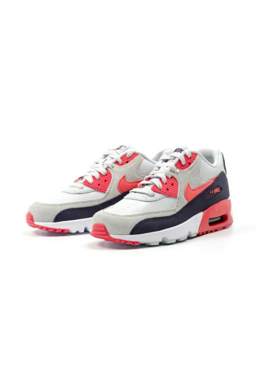 NIKE - AIR MAX 90 LTR YOUTH PLATINUM/EMBER GLOW-PURPLE DYNASTY 30015