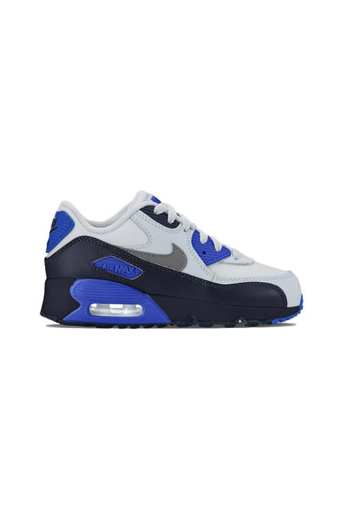 NIKE - AIR MAX 90 LEATHER (PS) OBSIDIAN/METALLIC DARK GREY 31571