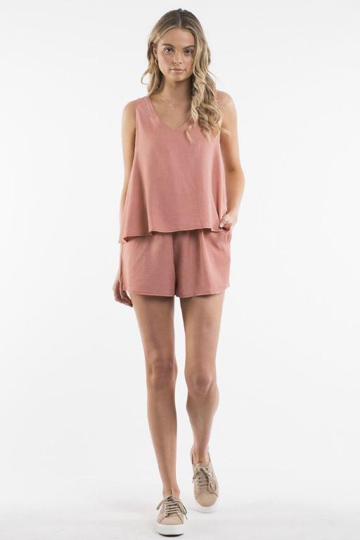 ALL ABOUT EVE - DAHLIA PLAYSUIT RUST 33503