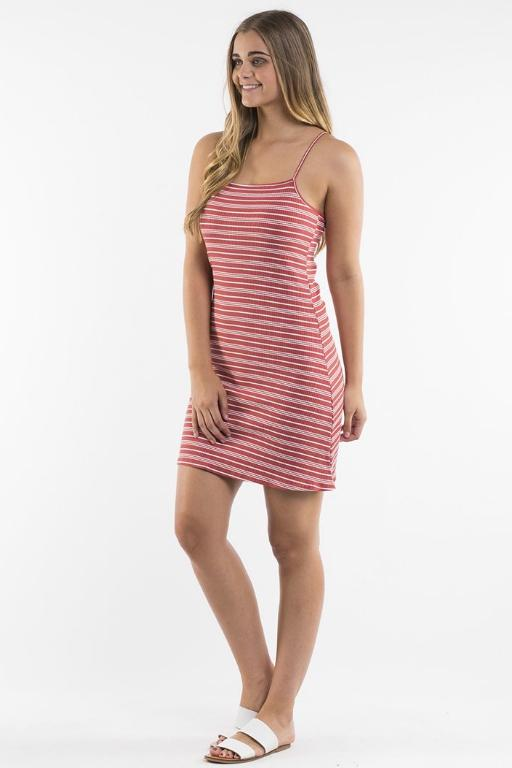 ALL ABOUT EVE - HANNAH DRESS RUST WHITE STRIPE 34790