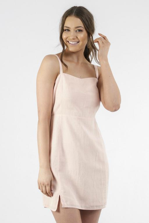 ALL ABOUT EVE - TARA DRESS LIGHT BLUSH 34785